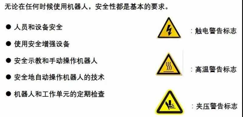 ABB机器人安全性能标识