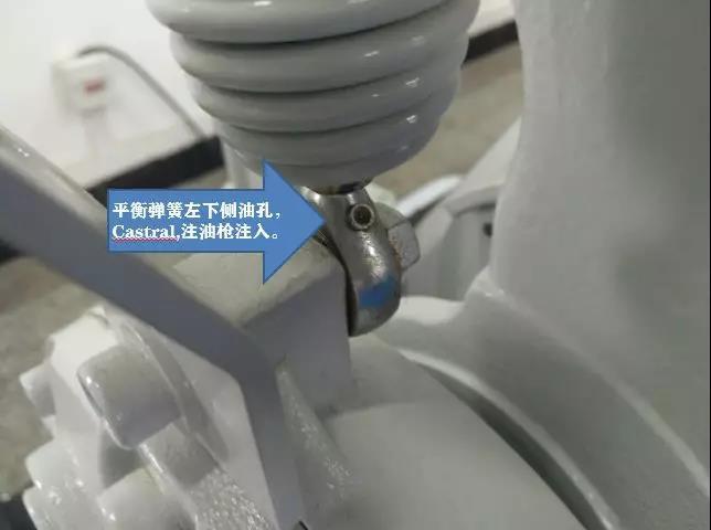 ABB IRB 1410机器人平衡杠油孔位置