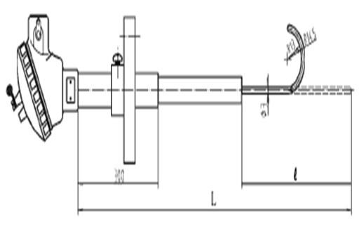热电偶,HO□K玻璃溶液专用铠装热电偶(鱼钩型)-重庆川仪
